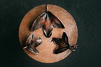 Sady šperkov - Náušnice a prívesok javor montpelierský - 11234795_