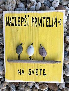 Obrazy - Kamienkáč Priatelia 2 žltý - 11234372_