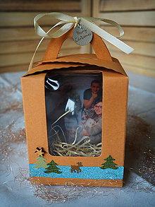 Krabičky - Darčeková krabička na vianočné gule s 3D fotkou - 11232709_