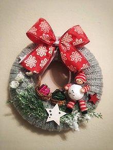 Dekorácie - Vianočný veniec - 11235141_