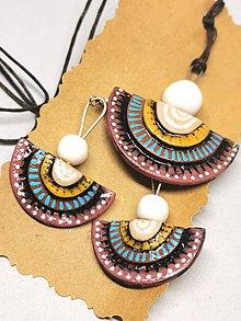 Sady šperkov - Žlto-modro-bordové - 11232290_