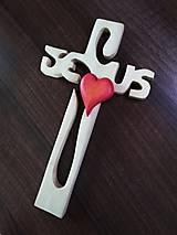 Socha - Drevený krížik - 11232008_