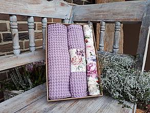 Úžitkový textil - Darčeková sada Romantic Lavender - 11234731_