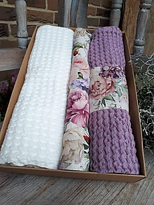 Úžitkový textil - Darčeková sada Romantic - 11234749_
