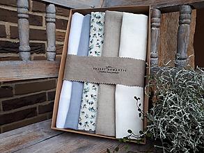 Úžitkový textil - Darčeková sada Linen Towels Cottage - 11234877_