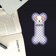 Papiernictvo - Psia záložka do knihy - šachovnica - 11232728_