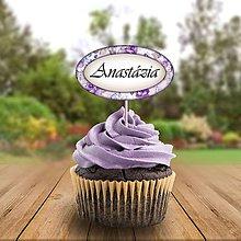 Papiernictvo - Menovka na cupcake romantická - 11233112_