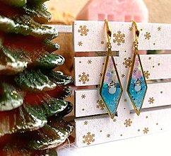 Náušnice - Vianočné náušnice visiace so snehuliakom, striebro Ag - 11233300_