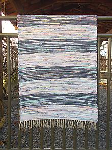 Úžitkový textil - tmavé a svetlé modro melírové pásy - 11235712_