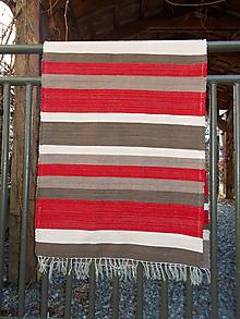 Úžitkový textil - červeno hnedý koberec - 11235728_