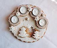 Dekorácie - Medovníkový adventný veniec kruh - 11236312_