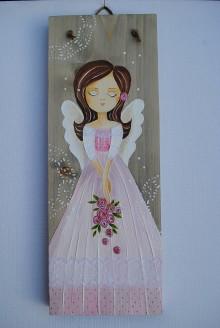 Obrazy - Anjelik v ružovom... - 11237489_