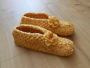 Obuv - Pletené papuče, veľ.č.37 - 11238491_