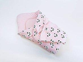 Textil - Zavinovačka ružové pandy - 11236509_