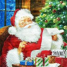 Papier - S1452 - Servítky - Vianoce, Santa Claus - 11237068_