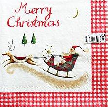 Papier - S1457 - Servítky - Vianoce, santa claus, sob - 11237165_