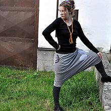 Nohavice - Šedé lisí...turky/sukně - 11237477_