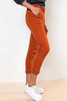 Nohavice - NOHAVICE CHINOS ORANGE - 11238787_