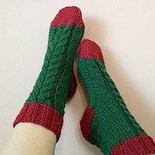 Obuv - Ponožky vianočné - 11236048_