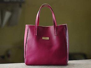 Nákupné tašky - Gréta- nákupná kožená taška - 11235448_