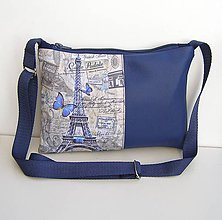 Kabelky - Modrá Kabelka Paríž - 11236870_