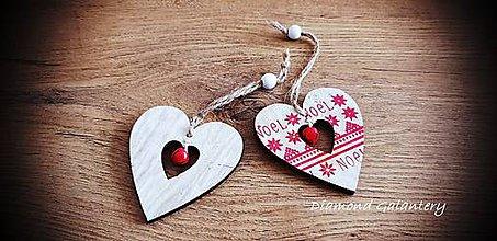 Galantéria - Vianočný výlisok s Rolničkou (Srdiečko) - 11237104_