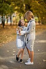 """Detské oblečenie - Teplákové šaty/tunika """"mama a dcéra"""" Haiax - 11236693_"""
