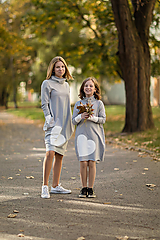 """Detské oblečenie - Teplákové šaty/tunika """"mama a dcéra"""" Haiax - 11236694_"""