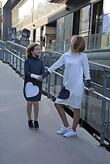 """Detské oblečenie - Teplákové šaty """"mama a dcéra"""" ♥ Glace jeans - 11236917_"""