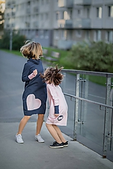 "Detské oblečenie - Teplákové šaty ""mama a dcéra"" ♥ Lorelei jeans - 11236942_"