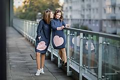 "Detské oblečenie - Teplákové šaty ""mama a dcéra"" ♥ Lorelei jeans - 11236951_"
