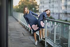 "Detské oblečenie - Teplákové šaty ""mama a dcéra"" ♥ Lorelei jeans - 11236952_"