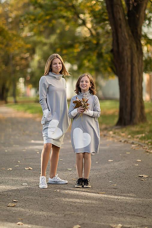 """Teplákové šaty/tunika """"mama a dcéra"""" Haiax"""