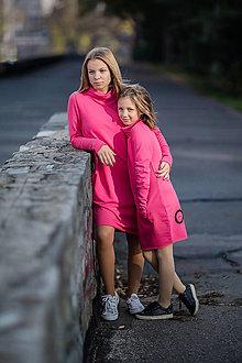 "Detské oblečenie - Teplákové šaty ""mama a dcéra"" ♥ Cleo - 11236712_"