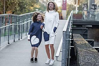 """Detské oblečenie - Teplákové šaty """"mama a dcéra"""" ♥ Glace jeans - 11236920_"""