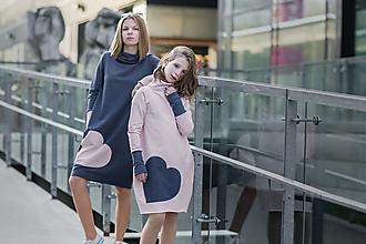 """Detské oblečenie - Teplákové šaty """"mama a dcéra"""" ♥ Lorelei Pink - 11237018_"""