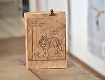 Papiernictvo - kožený zápisník CANIS LUPUS - 11236989_