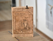 Papiernictvo - kožený zápisník VULPES VULPES - 11237014_
