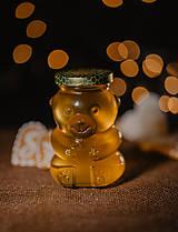 Potraviny - Sklenený macko s medom 398g (Kvetový med) - 11238535_