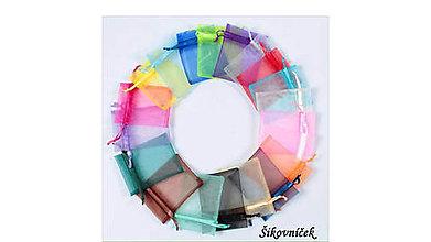 Obalový materiál - Organzové vrecká mix farieb 7x9cm 10ks - 11236326_