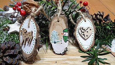 Dekorácie - Vianočné ozdoby drevené maľované II. - 11238593_