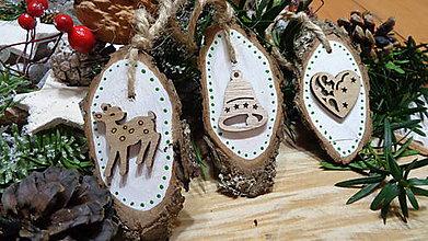 Dekorácie - Vianočné ozdoby drevené maľované II. - 11238601_