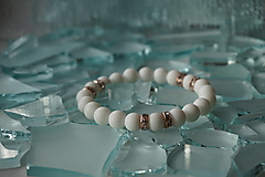Náramky - Náramok biely matný - 11238503_