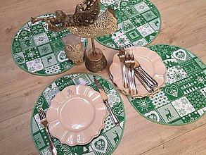 Úžitkový textil - prestierky vianoce kulaté - 11235861_