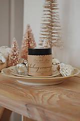 """- Sójová sviečka v hnedom sklíčku """"Z babičkinej vianočnej kuchyne"""" - 11237050_"""