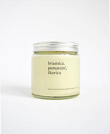 Svietidlá a sviečky - Brusnica, pomaranč, škorica- Limitovaná séria - 11238319_