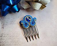 Iné šperky - Šujtášová spona Blue World - 11237832_