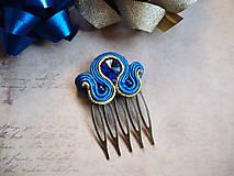 Iné šperky - Šujtášová spona Blue World - 11237836_