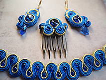 Iné šperky - Šujtášová spona Blue World - 11237838_