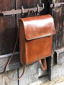 Batohy - Kožený ruksak NO.37 - 11236591_
